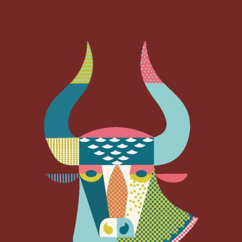 ZagZuggles-Cow-Absract-Design-Maroon