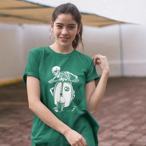ZagZuggles-Skeleton-Woman-Bottle-Green-T-Shirt