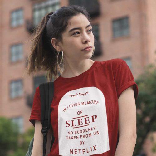 ZagZuggles_Sleep_netflix_Woman_TShirt